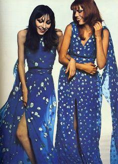 Anjelica Huston & Wallis Franken Vogue 1971