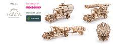 UGEARS: self-propelled mechanical wooden models | Indiegogo | Indiegogo
