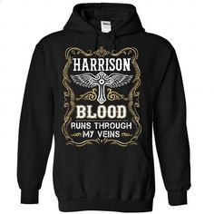 HARRISON - BLOOD - #jean skirt #funny graphic tees. GET YOURS => https://www.sunfrog.com/Valentines/HARRISON-2D-BLOOD-Black-Hoodie.html?id=60505