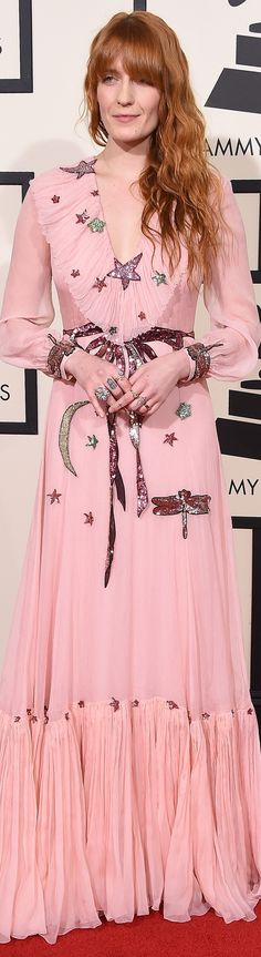 Florence Welch veste Gucci- Grammy Awards 2016