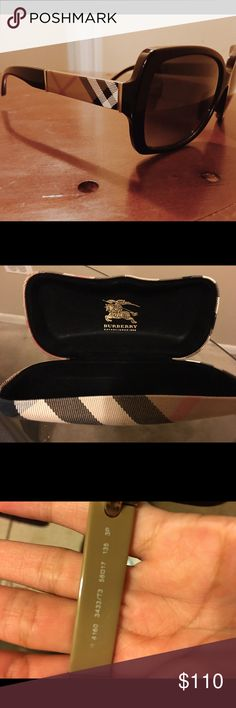 Burberry sunglasses 100% authentic Burberry sunglasses. Purchased 2 years ago from sunglass hut. In excellent condition, no scratches. Burberry Accessories Sunglasses