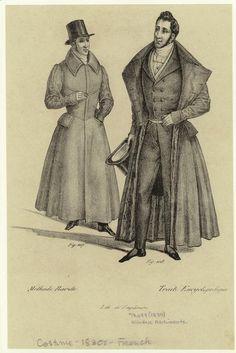 Winter redingote. Men -- Clothing & dress -- France -- 1830-1839