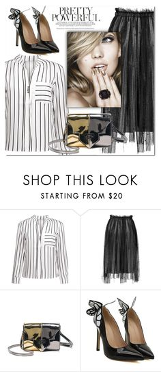 """""""Striped blouse"""" by j-sharon ❤ liked on Polyvore"""