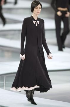 Chanel Spring 2002 Runway Beaded Black Silk Dress $7500 Includes 3 pieces #CHANEL #FullLengthDress