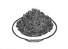 Holzdruck Poster Spaghetti Teller Kunstdruck Küche Küche | Etsy Printing Ink, Silk Screen Printing, Linocut Prints, Poster Prints, Cookbook Design, Art Diary, Graffiti Alphabet, Print Artist, Black And White