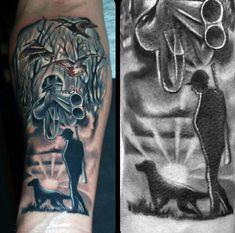 Wrist Dog Hunting Men's Tattoos