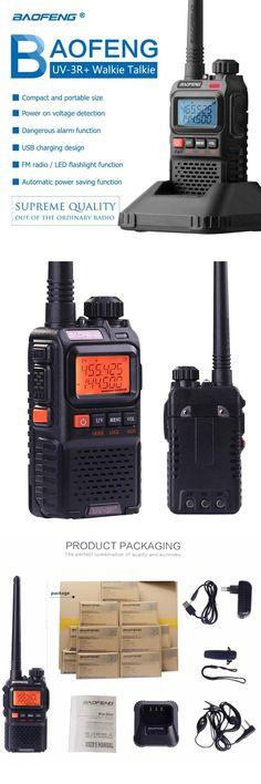 Baofeng BF UV 3R plus walkie talkie 1500mAh battery Dual Band Two Way Radio HF Transceiver uv 3r Handy Ham Radio For Hunting