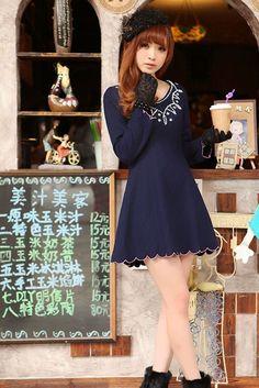 Mango Doll - Blue Pearl Wool Dress, $26.00 (http://www.mangodoll.com/all-items/blue-pearl-wool-dress/)