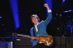 Paul McCartney returns to the stage in Albany, NY, Saturday night...in a fantastic Columbia Blue jacket.