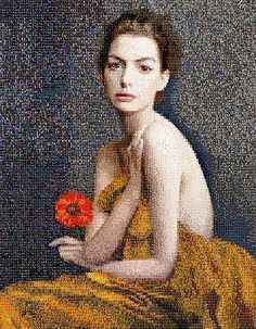Anna Halm Schudel, Anna, 2013 / 2014 © www.lumas.de/ #LumasAbstrakt,  Blume,  Blumen,  Digital,  Digital Art,  Fotografien,  Frau,  Frauen,  grafisch,  Mosaik,  Mosaike,  Pixel,  Portrait,  Portraits,  Prominente,  Prominenter,  romantisch