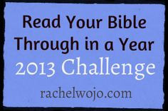 Read Your Bible Through in a Year Challenge: