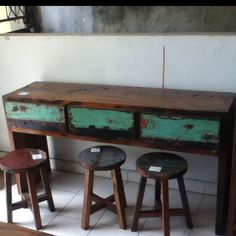 AllFromBoats #Bali. Quality furniture with #recycled wood from local fishing boats