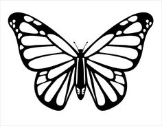 Free Butterfly Stencil Monarch Butterfly Outline And Silhouette throughout Monarch Butterfly Template Printable Butterfly Line Drawing, Monarch Butterfly Tattoo, Butterfly Outline, Butterfly Stencil, Butterfly Coloring Page, Butterfly Template, Butterfly Crafts, Butterfly Pattern, Butterfly Design