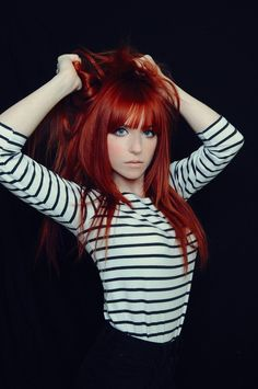 red hair with bangs. BAM!