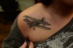 Flying Jet Tattoo