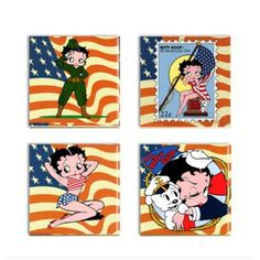 Items similar to Betty Boop Coasters