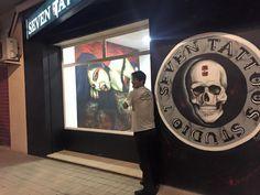 Mural Para Estudio de tattoo Tatto Seven Alaquas -Aldaia