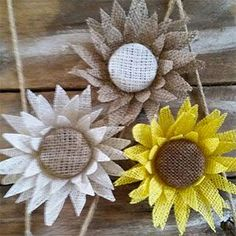 Shop a selection of Burlap Flowers for weddings or other occasions. Burlap Flowers, Fall Flowers, Fabric Flowers, Paper Flowers, Diy Flowers, Burlap Fabric, Fabric Ribbon, Gifts For Wedding Party, Wedding Crafts