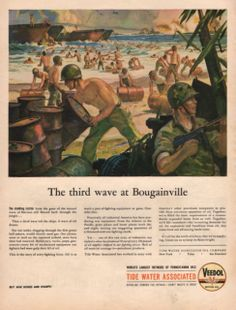 1944 Marines third wave at Bougainville print by catchingcanaries, $9.00