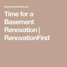 Time for a Basement Renovation | RenovationFind