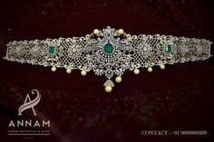 Indian Bridal Jewelry Sets, Indian Jewellery Design, Jewellery Designs, Necklace Designs, Indian Jewelry, Wedding Jewelry, Bridal Jewellery, Bridal Accessories, Vaddanam Designs