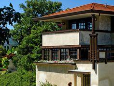 Westcott House sleeping balcony - Frank Lloyd Wright
