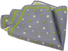 POCHETTE MELA VERDE  Pochette stampata in twill di seta 100% Dimensione in cm: 30×30  Prodotto Made in Italy