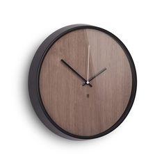 Discover+the+Umbra+Madera+Wall+Clock+-+Walnut/Black+at+Amara