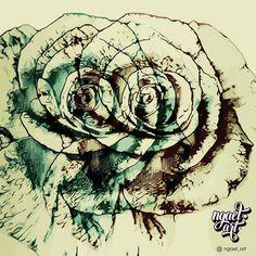 Blue Rose tattoo sketch