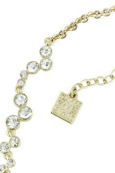 Anne Klein Gargantilla dorada con diamantes, Alva