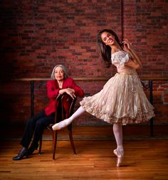 Raven Wilkinson, the first black woman to receive a contract with a major ballet company, the Ballet Russe de Monte Carlo of NYC, and Misty Copeland, the first black female soloist for ABT in over 20 years