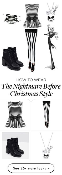 """""""Jack Skellington"""" by diamondfashion123 on Polyvore featuring WearAll, Zara and Disney"""