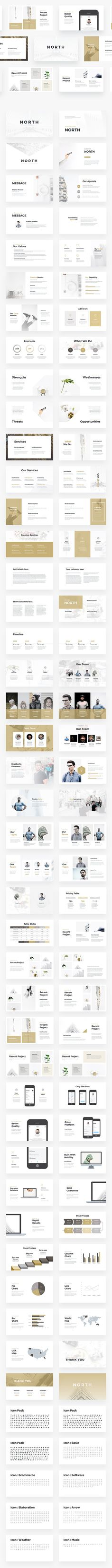 NORTH - Minimal Powerpoint Template