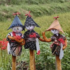 Scarecrows at the Nara Village of Asuka , Japan. Photography by Eiji Murakami on Flickr
