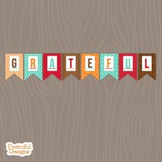 2e4c6e440 Items similar to Grateful Fall Thanksgiving Printable Banner Sent Via  Instant Download on Etsy