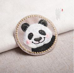 Embroidery Panda Cloth Patch Iron On Patch Sew Motif Applique Patch Gift DIY