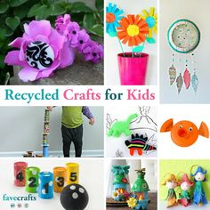 Lets start turning trash into treasure. Tin can crafts for kids with the tutorials below you and the kids can make all sorts of exciting projects from cans. 54 Recycled Crafts For Kids Favecrafts Com… Crafts From Recycled Materials, Recycled Crafts Kids, Fun Crafts For Kids, Diy For Kids, Diy Crafts, Recycle Crafts, Recycled Robot, Recycle Art, Children Crafts
