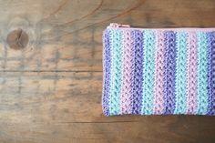 Trousse au crochet. Point étoile. Tuto by Aline au pays des mailles.
