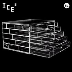 ICE3 CUBE Acrylic Makeup, Cosmetic & Jewelry Organizer #5L