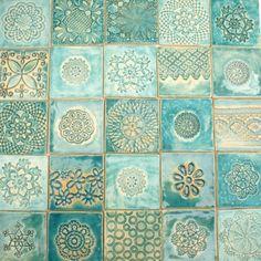 turkoois mix tegels, tegels van de oorspronkelijke, dekornia