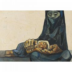 View Mother and child by Eduardo Kingman on artnet. Browse upcoming and past auction lots by Eduardo Kingman. Eduardo Kingman, Arte Latina, Abstract Portrait, Hand Art, Elements Of Art, Mother And Child, Religious Art, Figure Painting, Art World