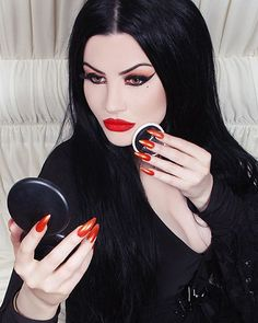 Goth Makeup, Sexy Makeup, Dark Makeup, Witchy Makeup, Gothic Girls, Gothic Lolita, Goth Beauty, Dark Beauty, Wicca