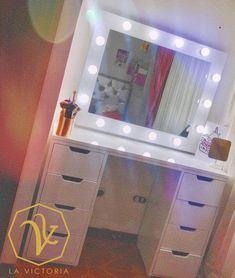 Vanities, Girly, Vans, Victoria, Mirror, Bedroom, Makeup, Table, Furniture