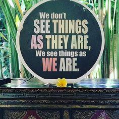 It's true . . What do you see? . . #repost via @denise4health . . . #reflection #whatdoyousee #mantra #wordsofwisdom #weekendvibes #retreat #selfcare #nayaubud #ubud #bali