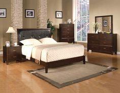 Crown Mark 3790 Black Queen Sleigh Bedroom Collection