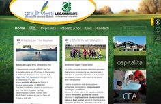PORTFOLIO: progettazione e realizzazione sito internet CEA ANDIRIVIENI - www.andirivienibiella.it