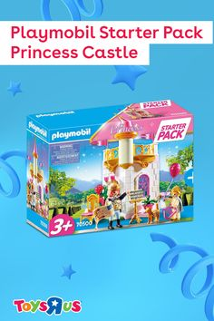 Hear ye! The Playmobil Starter Pack Princess Castle is loaded with accessories your littles can use to have a royally awesome day of play! The castle tower playset includes a king figure, princess figure, cat figure and lots of accessories including an instrument, music stand, scroll and more!