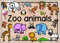 "Themenplakat ""Zoo animals"""