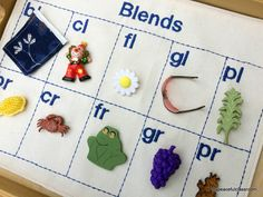 Montessori Blue Series Language Mat with Objects: Discriminating /l/ and /r/ Blends by mypeacefulclassroom on Etsy