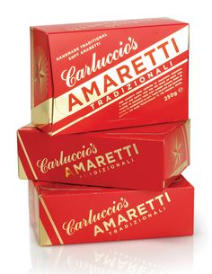 nspired by Italian Deco graphics, Irving & Co created this timeless design for Amaretti Tradizionali.